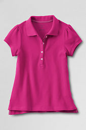 Girls' Short Sleeve Solid Pretty Polo Shirt