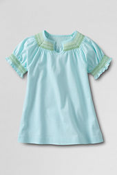 Girls' Smocked Neck T-shirt