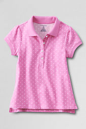 Girls' Short Sleeve Pattern Pretty Polo Shirt