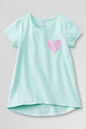 Girls' Pattern Pocket T-shirt