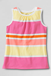 Girls' Pattern Twisted Neck Tank Top