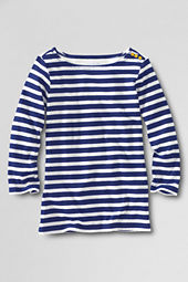 Girls' Button Shoulder Sailor Top