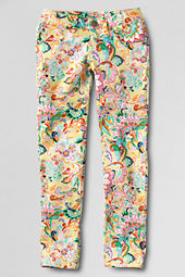 Girls' Pattern 5-pocket Denim Jeans