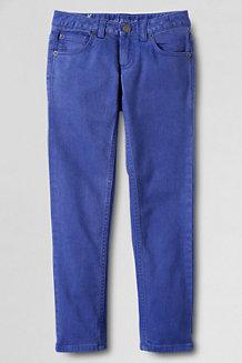 Girls' 5-Pocket Coloured Slim Pencil Leg Jeans
