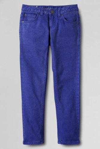 Little Girls' 5-Pocket Coloured Slim Pencil Leg Jeans