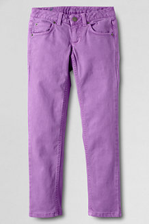 Girls' 5-Pocket Coloured Slim Pencil Leg Jeans
