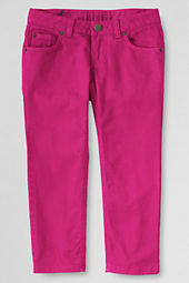 Girls' Colored 5-pocket Denim Capri Pants