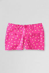 Girls' Print Twill Patch Pocket Shorts
