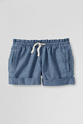 Girls' Chambray Pull-on Shorts