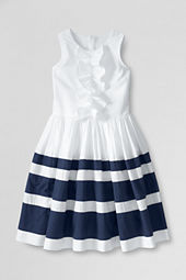 Girls' Sleeveless Stripe Dress