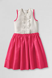 Girls' Sleeveless Shantung Dress