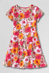 Girls' Short sleeve A-Line Jersey Dress