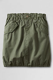 Girls' Twill Snap-pocket Skort