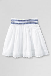 Girls' Smocked Eyelet Skirt