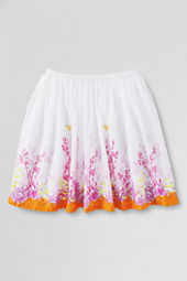 Girls' Woven Placed Print Skirt
