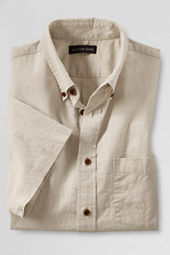 Men's Short Sleeve Cotton Linen Shirt