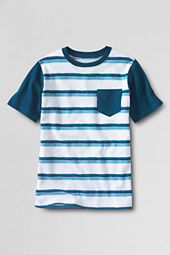 Boys' Short Sleeve Painted Stripe Colorblock Super-T