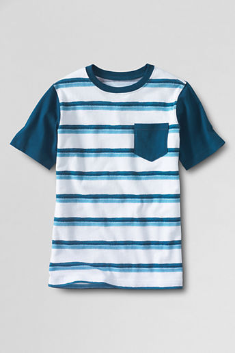 Toddler Boys' Short Sleeve Painted Stripe Colorblock Super-T - White Painted Stripe, 4T
