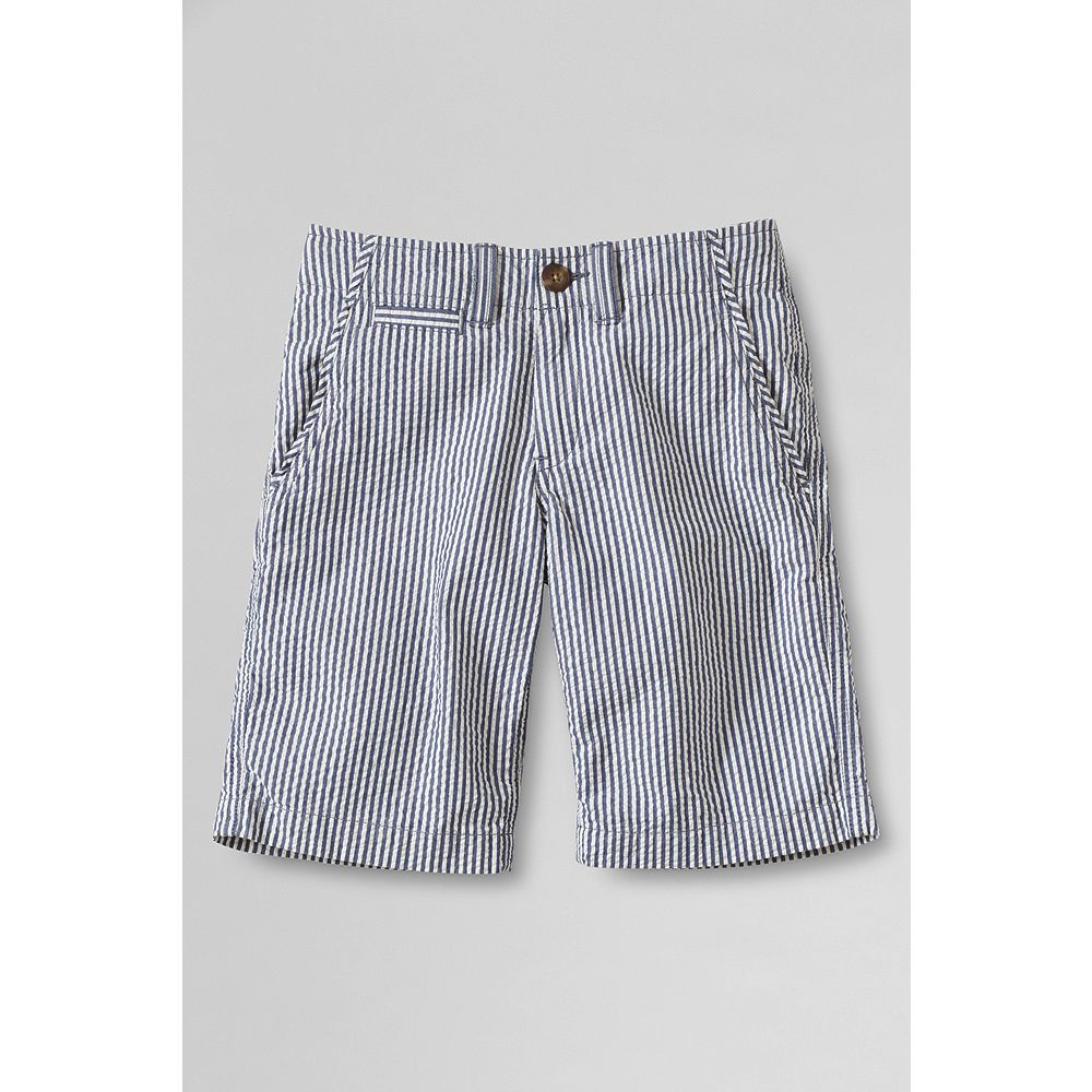 Lands' End Boys' Slim Seersucker Cadet Shorts at Sears.com