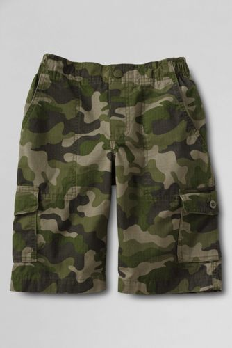 Little Boys' Camouflage Ripstop Pull-on Cargo Shorts