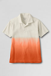 Boys' Self Collar Dip Dye Polo Shirt