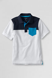 Boys' Short Sleeve Colorblock Mesh Polo