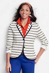Women's Striped Double Knit Jacket