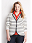 Women's Plus Striped Milano Knit Blazer
