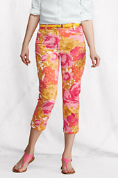 Women's Floral Cropped Stretch Chinos