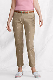 Women's Slim Leg Stretch Embroidered Ankle Trousers