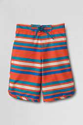Boys' ShakeDry™ Stripe Stretch Half-elastic Board Shorts