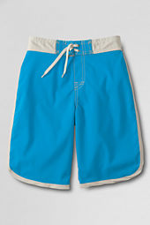 Boys' ShakeDry™ Solid Stretch Half-elastic Board Shorts