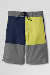 Boys' ShakeDry Stretch Half-elastic Colorblock Board Shorts