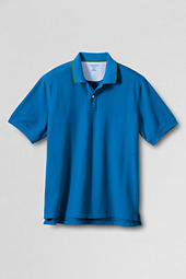 Men's Short Sleeve Tipped Mesh Polo Shirt