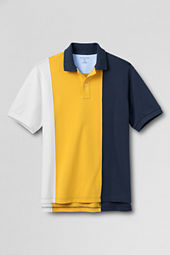 Men's Vertical Colorblock Polo Shirt