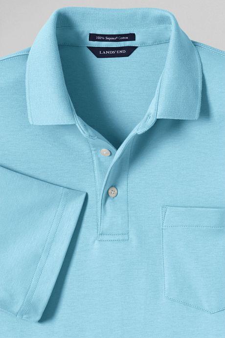 Men's Tall Supima Short Sleeve Polo Shirt with Pocket