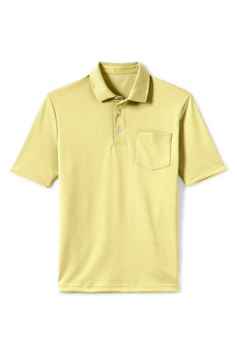 Men S Supima Short Sleeve Polo Shirt With Pocket From Lands End