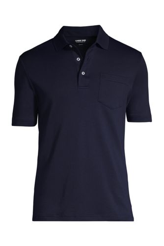 Men/'s Comfortable Big Tall Stretch Pima Open Polo Collar Shirt Easy Wear Style