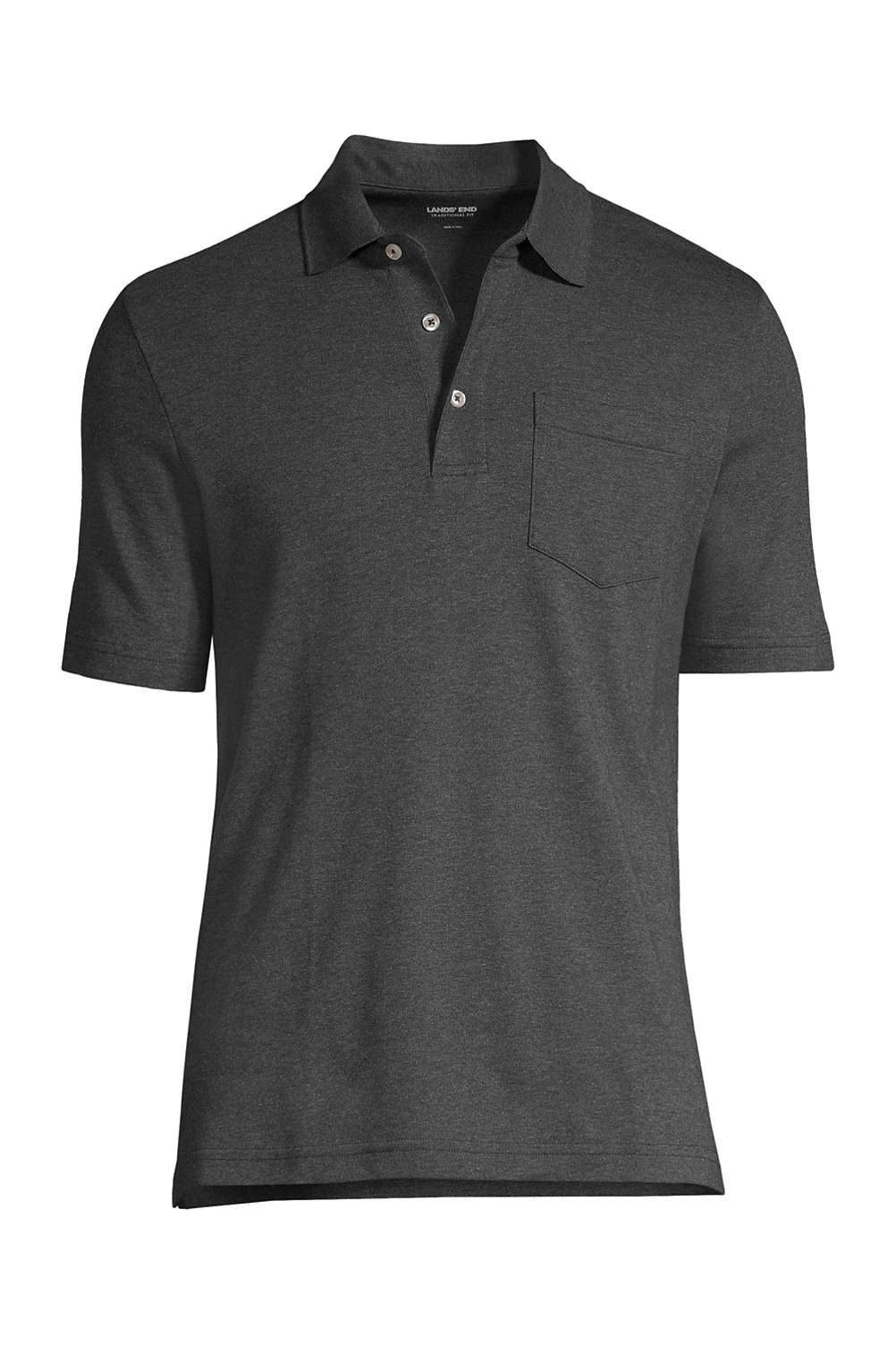 e90f0c4e962a Men's Supima Short Sleeve Polo Shirt with Pocket from Lands' End