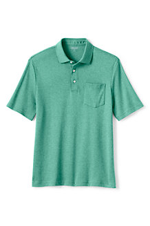 Men's Traditional Fit Supima Polo Shirt with Pocket
