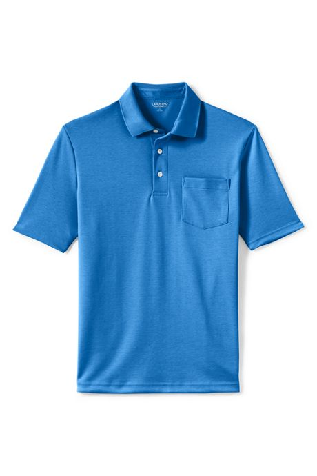 Men's Big and Tall Short Sleeve Super Soft Supima Polo Shirt with Pocket