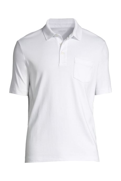 Men's Tall Supima Short Sleeve Polo Shirt with Pocket