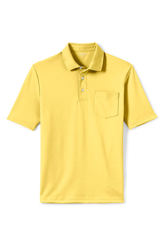 Men's Short Sleeve Super Soft Supima Polo Shirt with Pocket, Front