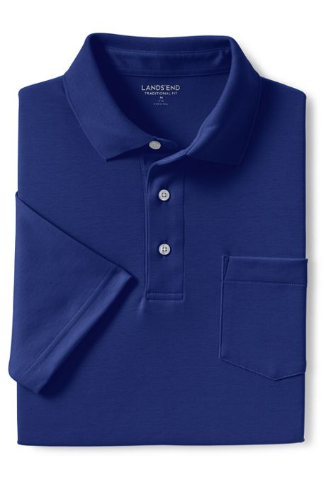 Men's Tall Short Sleeve Supima Polo Shirt with Pocket