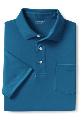 Men's Short Sleeve Super Soft Supima Polo Shirt with Pocket