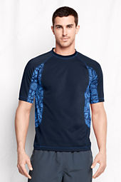 Men's Printed Colorblock Rash Guard