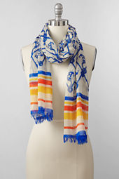 Women's Cotton Voile Anchors Scarf