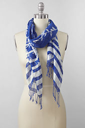 Women's Cotton Voile Variegated Floral Scarf