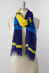 Women's Featherweight Colourblock Stripe Scarf