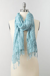 Women's Linen Blend Watercolour Paisley Scarf